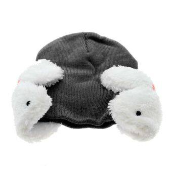Harga Vanker Winter Child Infant BabyKid Toddler Rabbit Plush Ear Cover Cap Hat Bonnet Biggin(Black)
