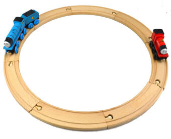 Harga Train wooden track toys