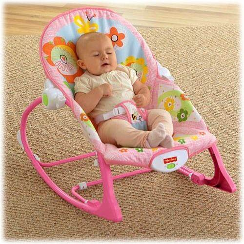 Infant-to-Toddler Rocker Sleeper Pink Bunny Pattern