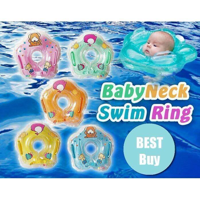 Infants Babies Swim Safety Soft Inflatable Neck Buoy Tube Ring Toys (Orange)