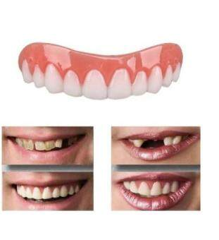 Instant Smile Comfort Fit Flex Whitening Tooth Paste False Teeth Covers