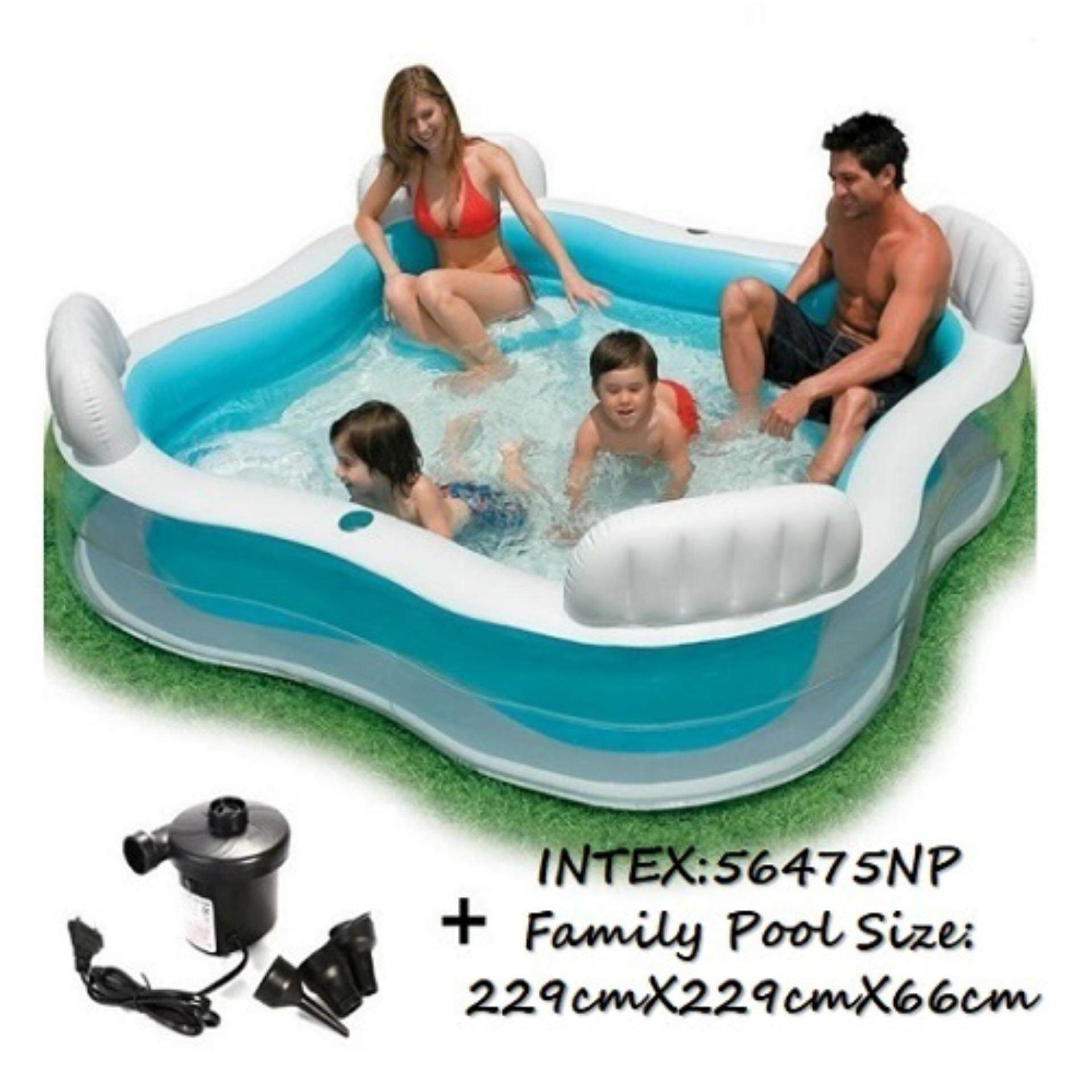 INTEX Swim Family Pool Sofa Pool Free Electric Pump with Pump