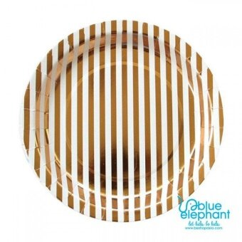 Harga Jayden & Co Gold Stripe Paper Plate
