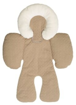 JJ Cole Baby Head & Body Support Pillow for Car Seat &Stroller - Khaki