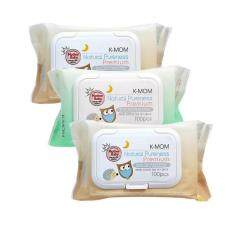 K-Mom Natural Pureness Organic Premium Baby Wet Wipes Embo 100pcs X 3