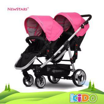 Harga Kido House - Twins Stroller (Pink)