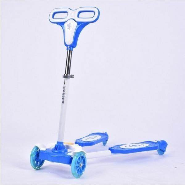 Kids Four Wheels Scooter Blue