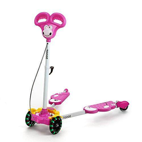 Kids Four Wheels Scooter Pink