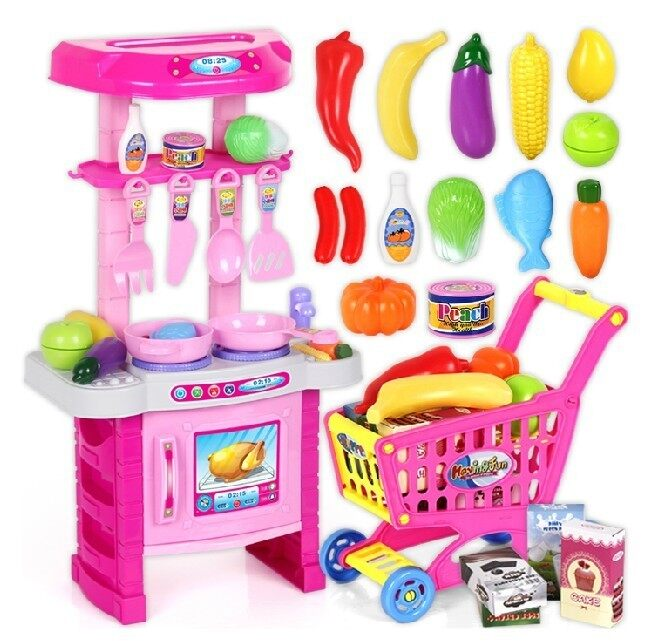 Kids Kitchen Play Set   Pink | Lazada Malaysia