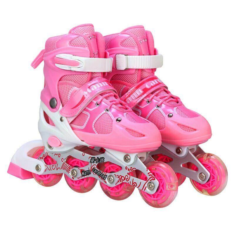 Kids Roller Shoe Pink  L (38