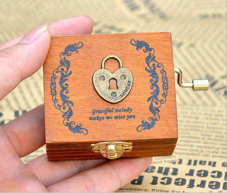 Korea Retro Wooden Hand Crank Music Box