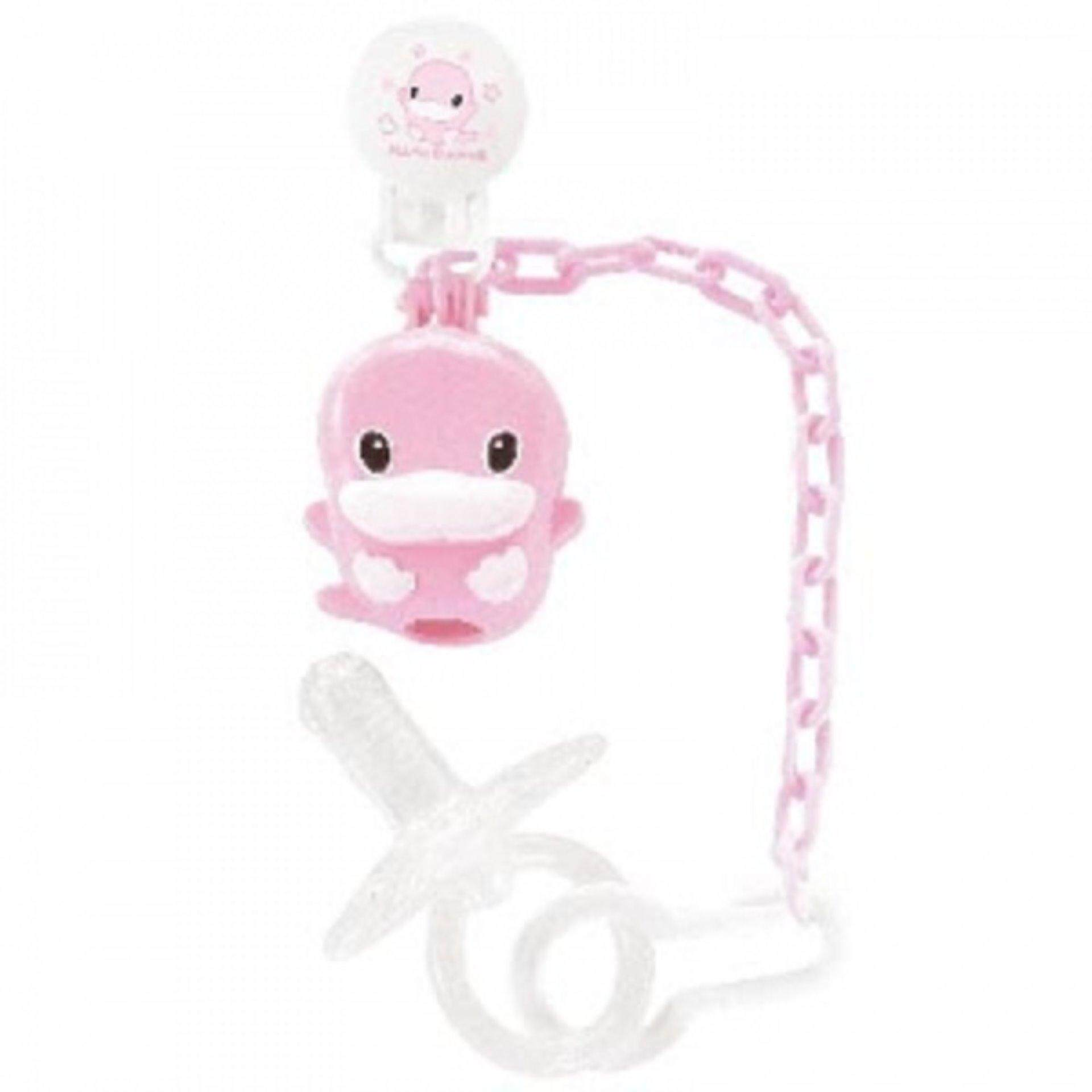 KUKU PACIFIER HOLDER + NIPPLE PACIFIER -6MONTH UP