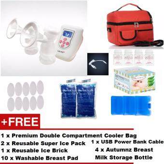 Harga Lacte Duet Electric Double Breast Pump + FREE GIFTS + CHEAPESTSHIPPING