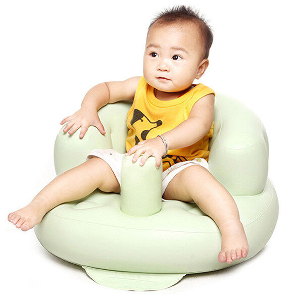 welovestore Lalang Baby Inflatable Sofa Thickened Chair Portable Security Bath Seat (Light Green) - intl