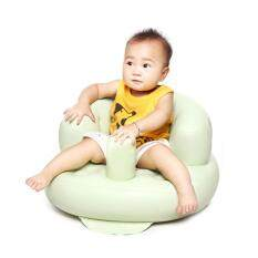 leegoal Portable PVC Inflatable Bath Chair Baby Sofa For Kids, Light Green