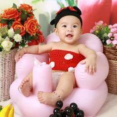 leegoal Portable PVC Inflatable Bath Chair Baby Sofa For Kids, Pink