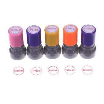 Lightning Power Set Of 5pcs Teachers Self Inking Rubber Stamps Teacher Review Photosensitive