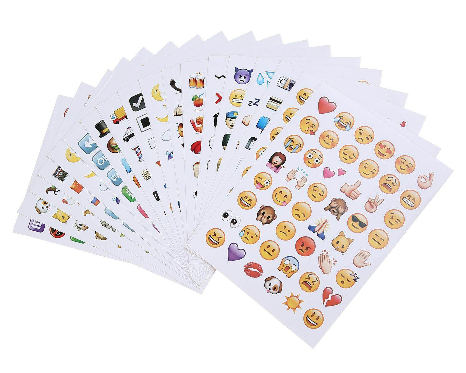 LingTud Emoji Stickers 19 Sheets 912 With Happy Faces Kid Stickers For Phone Facebook Twitter - intl