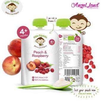 Harga Little Freddie Pouches (4m+) Peach & Raspberry 90g
