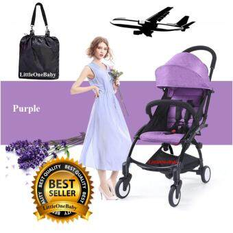 Little One Exclusive Compact Light Weight Compact Foldable Baby Stroller 1 Year Warranty Purple