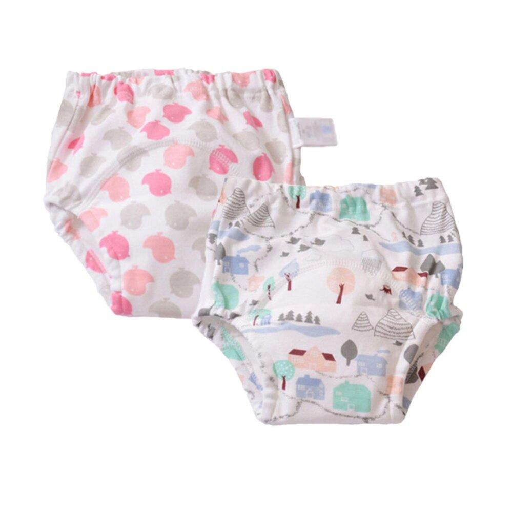 Lucu Bayi Anak Laki-laki Bisa Dicuci 2 Pack Toilet Latihan Celana Popok Celana Dalam Popok Kain-Internasional