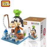 Loz 9639 Fishing Goofy from Cute Disney Mickey And Friends in Action Loz Nano/Diamond Block Figure