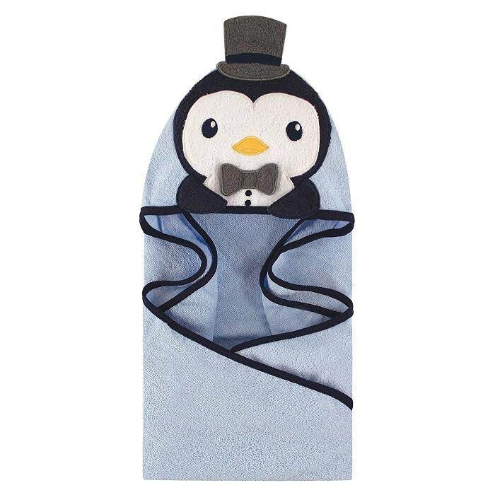 Luvable Friends - Animal Hooded Towel Embroidery (Mr.Penguin) ()