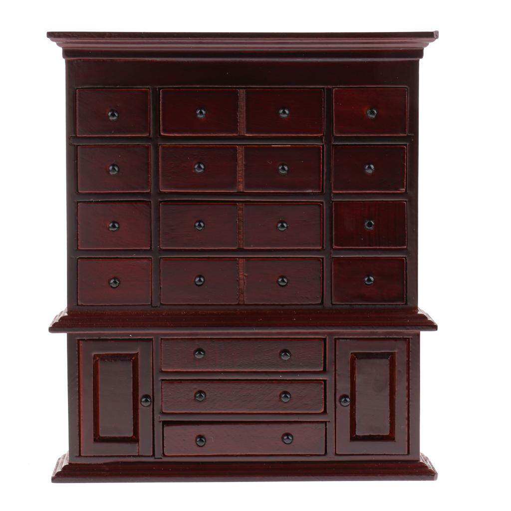 MagiDeal 1/12 Dollhouse Miniature Furniture Vintage Medicine Cabinet - intl