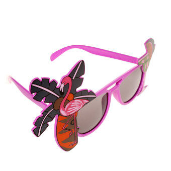 MagiDeal Flamingo Cocktail Hawaiian Sunglasses Fancy Dress TropicalGlasses Rose