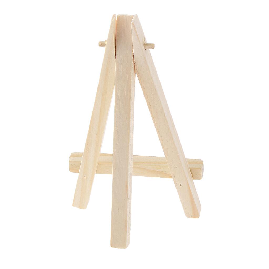 Hình ảnh MagiDeal Phenovo Art Supply Mini Wood Display Easel Natural Craft Table Stand 12*7cm - intl