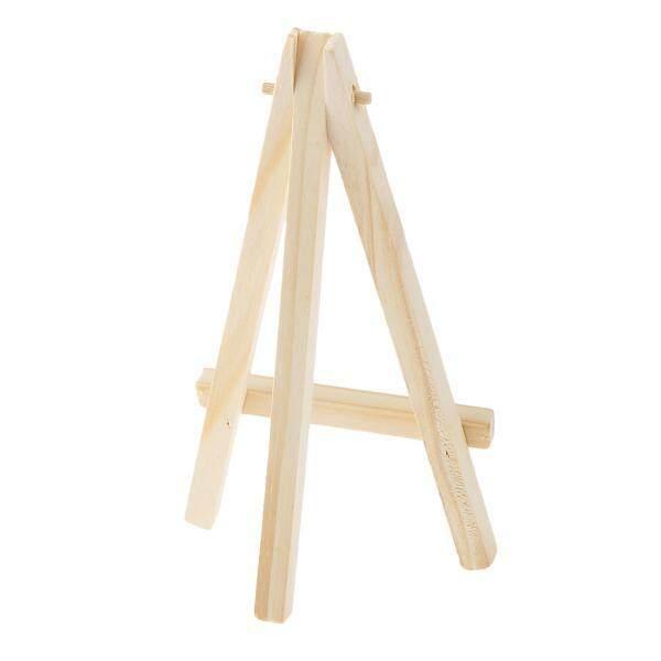 Hình ảnh MagiDeal Phenovo Art Supply Mini Wood Display Easel Natural Craft Table Stand 15*8cm - intl