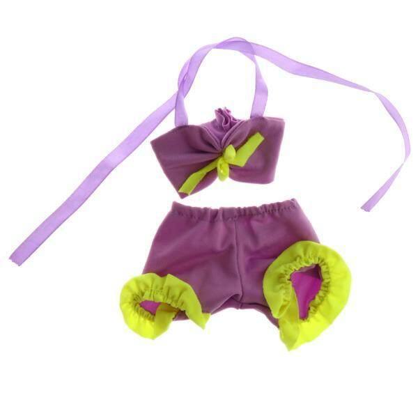 Magideal Dua Buah Lacing Trendi Renang Setelan Baju Renang untuk 1/3 BJD Sd Doll Ungu-Internasional