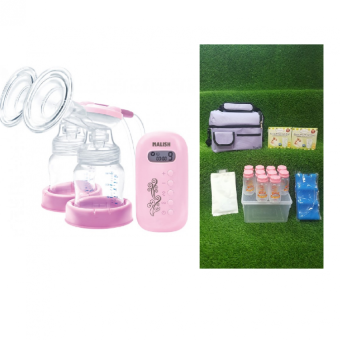 Harga Malish Aria Double Electric Breast Pump package