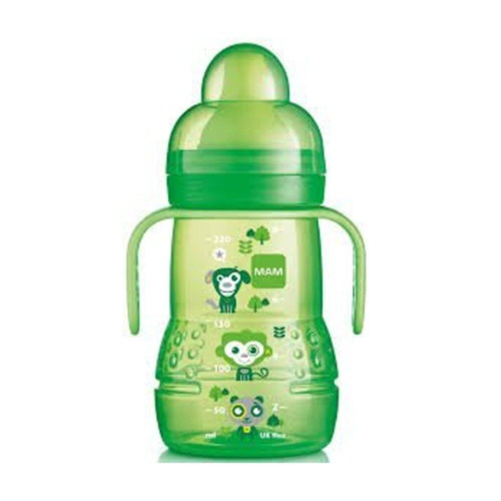 MAM Training Trainer Cup with Soft Spout Handles 4 months 8 oz Green
