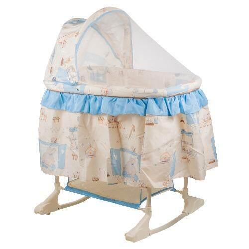 mamakiddies flipper baby rocking cradle crib modern style bassinet newborn infant nursery sleep play blue lazada malaysia