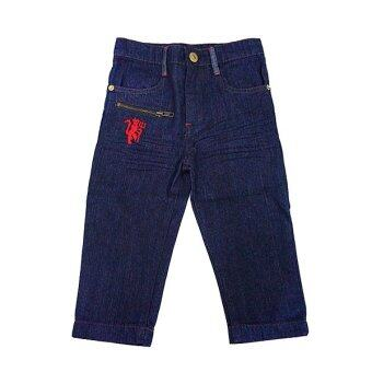 Harga Manchester United Denim Long Pants ( Blue)