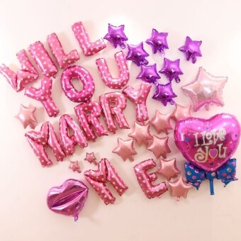 Harga Marry Decorative Aluminum balloon will you marry me balloon engagement layout room decorative