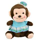 Maylee Cute Plush Monkey with Skirt 18cm (Blue) toys for girls