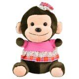 Maylee Cute Plush Monkey with Skirt 18cm (Pink) toys for girls