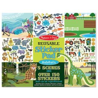 MELISSA & DOUG Habitats Reusable Sticker Book