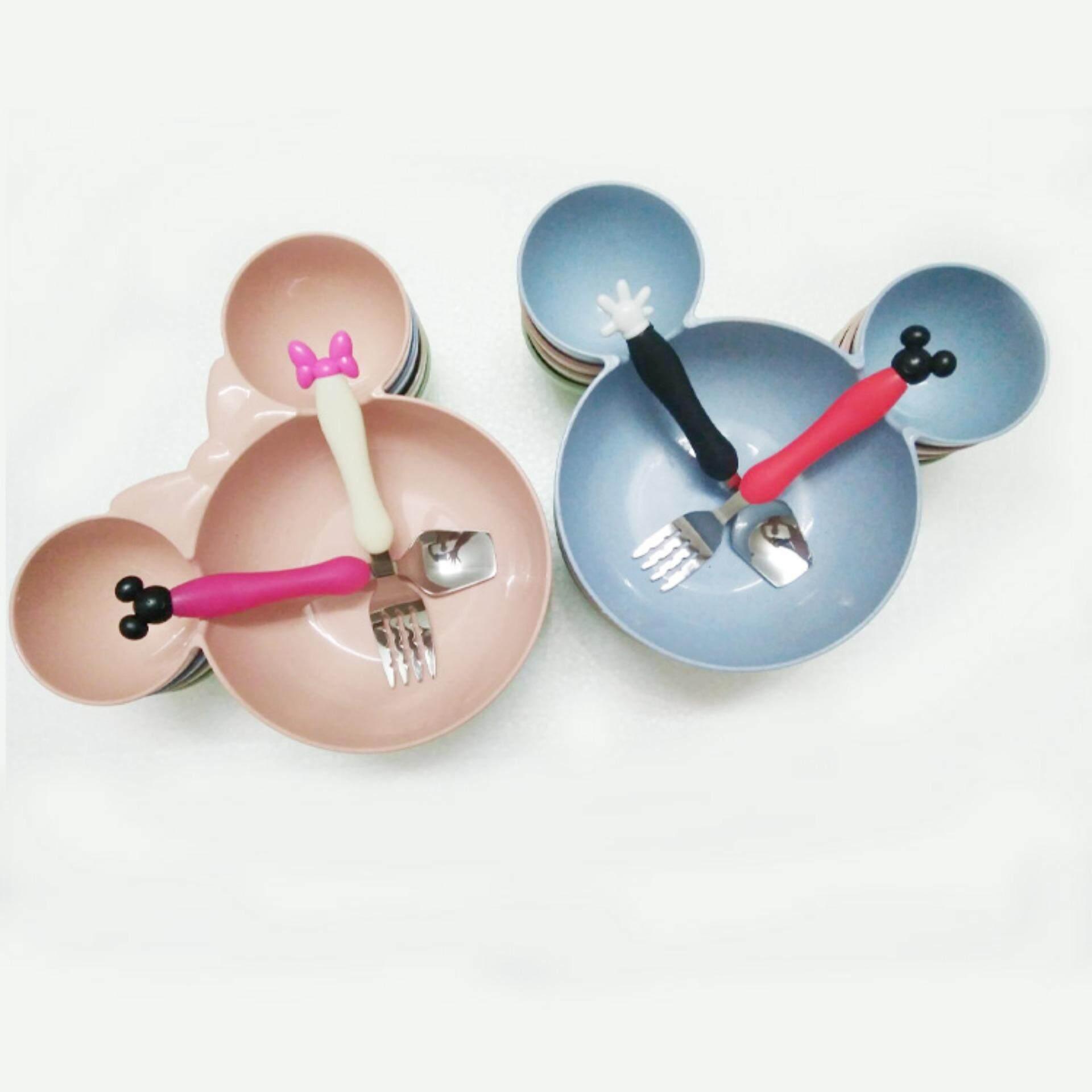 Mickey Design Bowl FOC SS spoon & fork