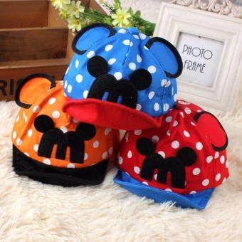 Harga Mickey Mouse Baby Cap (Blue & Red)