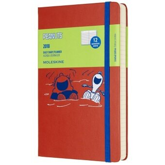 Moleskine 2018 Peanuts Limited Edition Daily Planner Notebook, 12M,Large, Orange, Hard Cover(13 x 21 CM)