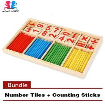 MOMO House Wooden Mathematical Intelligence Stick