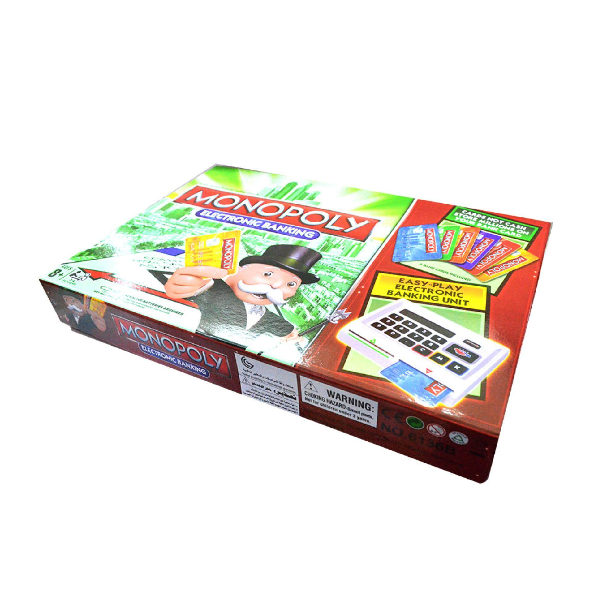 Monopoly electronic banking with e banking unit board game set lazada malaysia