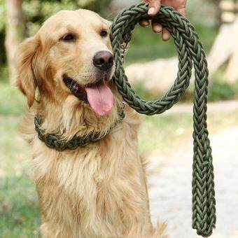 Harga Moonar Dog Traction Rope Set Traction Dog Chain Lead Dog Leash PetTraction Rope Chain Harness Dog Collar Pet (1.3m*1.5cm)