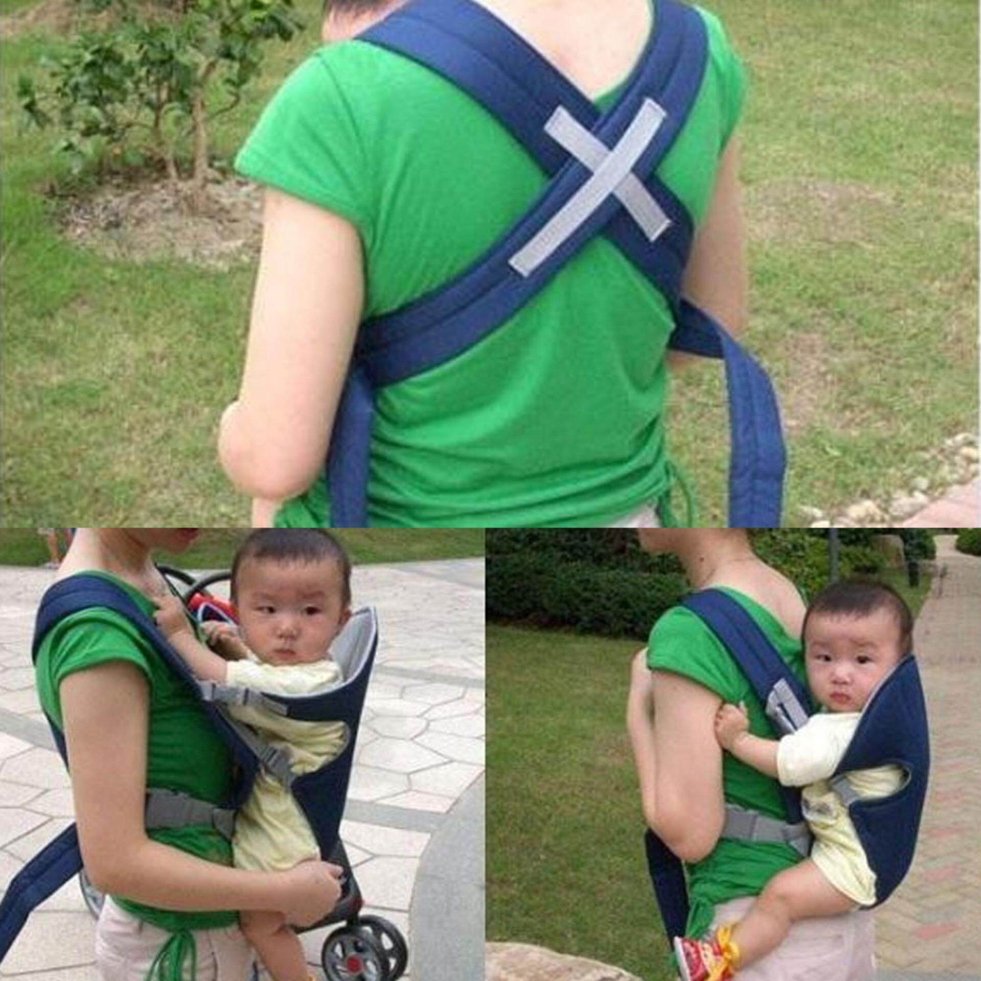 Multi-function Breathable 3D Mesh Baby Carrier Sling for Infant Baby (Blue)