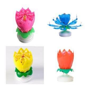 Features wonderful toy 5sgift 3pcs musical lotus flower candles musical rose flower lotus birthday candle easy light with music birthday candles topper mightylinksfo
