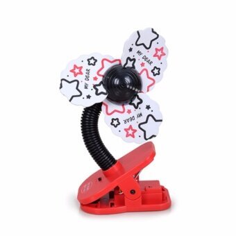 Harga My Dear 16060 USB Mini Clip Fan With Light - Black