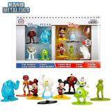 Nano Metalfigs Disney Pixar 10 Pack  Mickey Mouse (DS1), Minnie Mouse (DS2), Buzz Lightyear (DS7), Mr. Incredible (DS6), Sulley (DS9), Mike Wazowski (DS10), Alice (DS3), Baymax (DS12), Kermit (DS4), Animal (DS11)